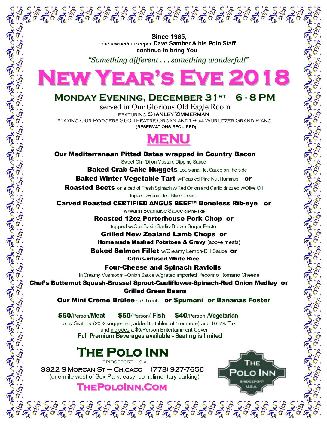 New Year's Eve Menu 2018 PDF